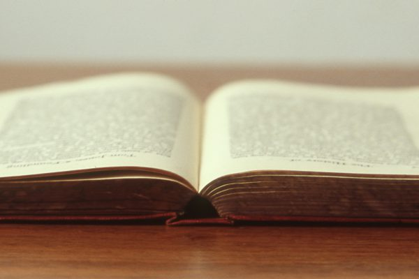 bible opened on a table