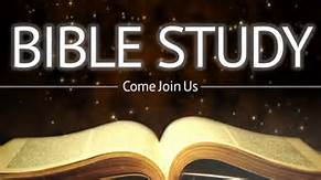 open bible that has bible study come join us in white text