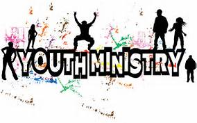 youth ministry in black wth paint splashed on white background with teens on the letters